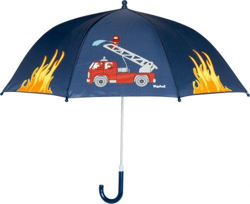 Playshoes---Children's-umbrella-with-Firetruck---Navy