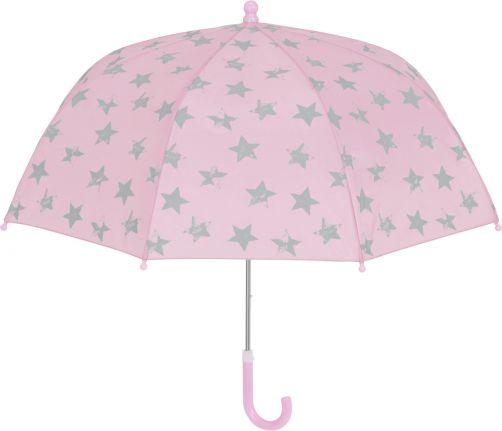 Playshoes---Umbrella-for-kids---Stars---Light-pink