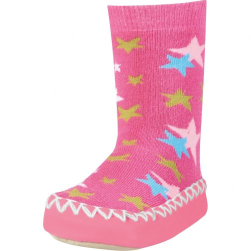 Playshoes---Home-shoes-for-kids---Star-Print---Pink
