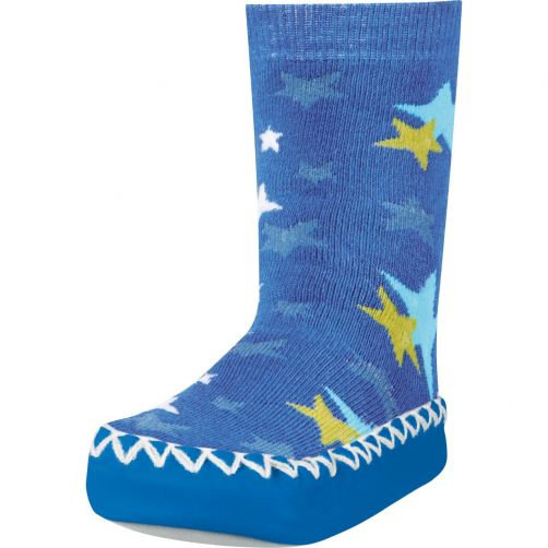 Playshoes---Home-shoes-for-kids---Star-Print---Blue