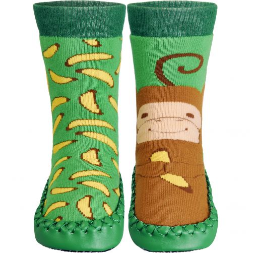 Playshoes---Home-shoes-for-kids---Monkey---Green