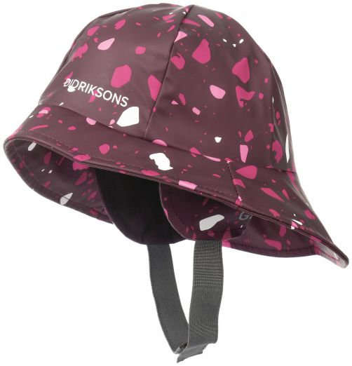 Didriksons---Rain-hat-for-children---Southwest-Printed---Plum