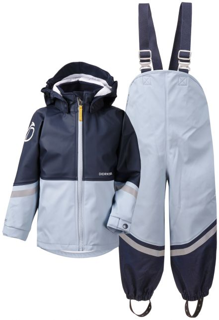 Didriksons---Rain-suit-for-children---Waterman---Lightblue/Darkblue
