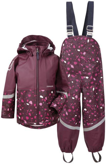Didriksons---Rain-suit-for-children---Waterman-Printed---Plum