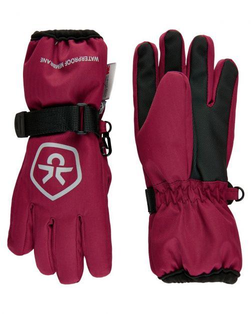 Color-Kids---Waterproof-gloves-for-children---Beet-Red