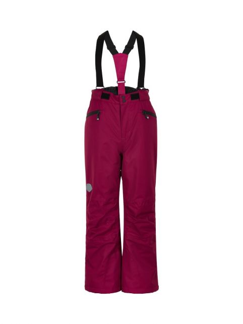 Color-Kids---Ski-pants-with-pockets-for-children---Solid---Beet-Red