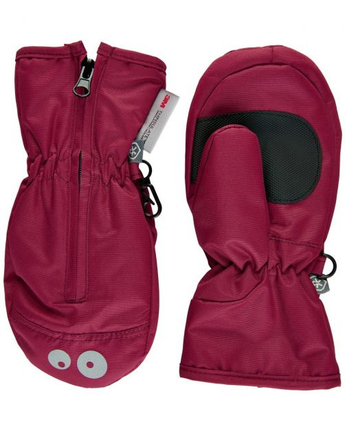 Color-Kids---Mittens-with-zipper-for-little-children---Beet-Red