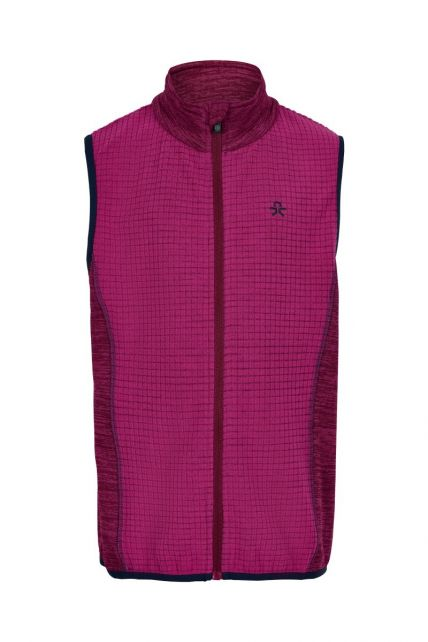 Color-Kids---Fleece-waistcoat-for-girls---Melange---Rose-Violet