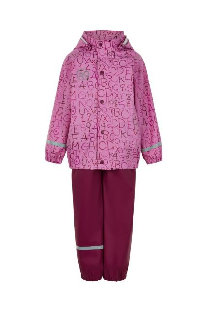 Color-Kids---Rainsuit-for-girls---AOP---Fuchsia-Pink