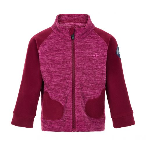 Color-Kids---Fleece-jacket-for-babies---Mittens---Beet-Red