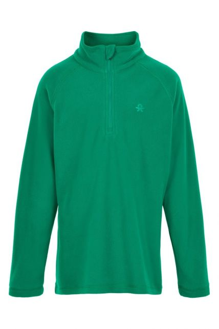 Color-Kids---Fleece-pullover-with-half-zip-for-children---Solid---Golf-Green