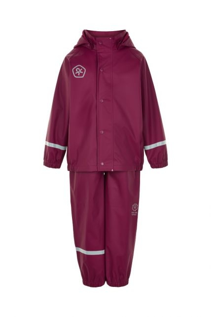 Color-Kids---Rainsuit-from-recycled-material-for-children---Solid---Beet-Red