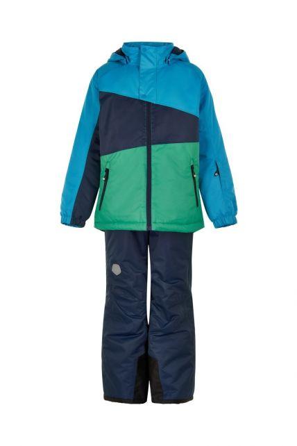 Color-Kids---Ski-suit-for-boys---Colorblock---Surf-Blue