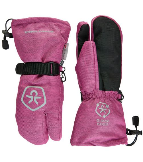 Color-Kids---Waterproof-ski-gloves-for-girls--Twill---Rose-Violet