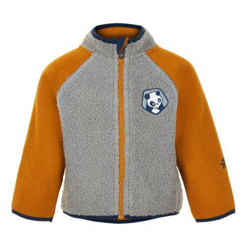 Color-Kids---Fleece-jacket-for-babies---Colorblock---Grey/Honey