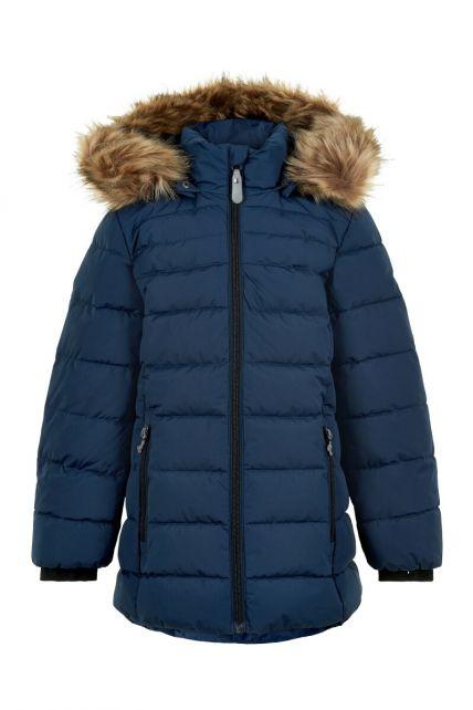Color-Kids---Winter-jacket-for-girls---Quilted-Solid---Dark-blue
