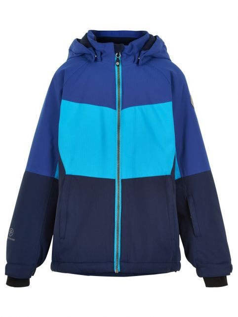 Color-Kids---Ski-jacket-for-girls---Colorblock---Cyan-Blue