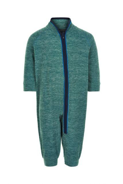 Color-Kids---Fleece-overall-for-babies---Melange---Hydro