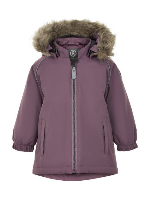 Color-Kids---Parka-jacket-for-baby-girls---Solid---Arctic-Dusk
