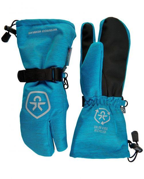 Color-Kids---Waterproof-ski-gloves-for-children--Twill--Surf-Blue
