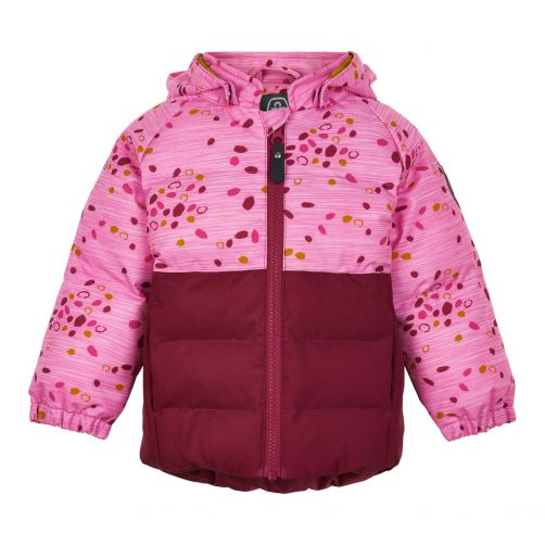Color-Kids---Softshell-jacket-for-baby-girls---Dots---Beet-Red