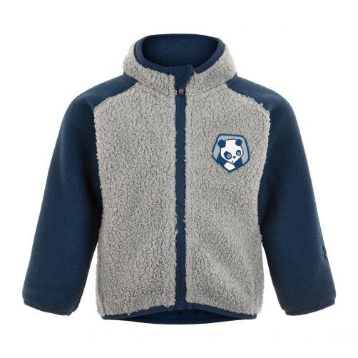 Color-Kids---Fleece-jacket-for-babies---Colorblock---Grey/Dark-blue