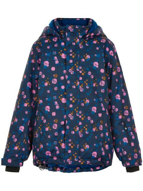 Color-Kids---Ski-jacket-for-girls---AOP---Dark-blue/Multi