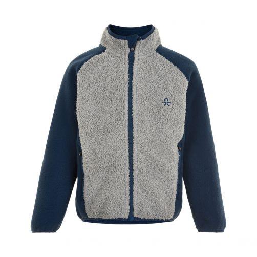 Color-Kids---Fleece-jacket-for-children---Colorblock---Grey/Dark-blue