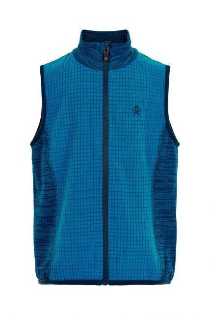 Color-Kids---Fleece-waistcoat-for-boys---Melange---Surf-Blue