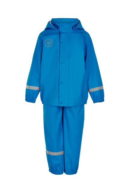 Color-Kids---Rainsuit-from-recycled-material-for-children---Solid---Surf-Blue