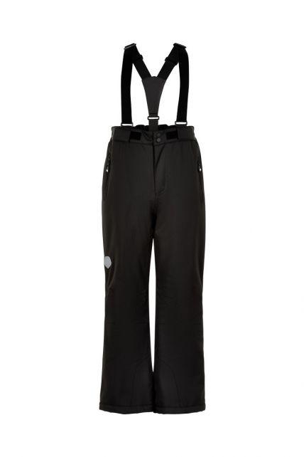 Color-Kids---Ski-pants-with-slim-fit-for-children---Solid---Black