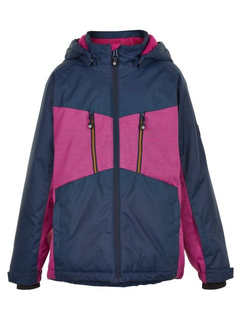 Color-Kids---Ski-jacket-for-girls---Melange---Rose-Violet
