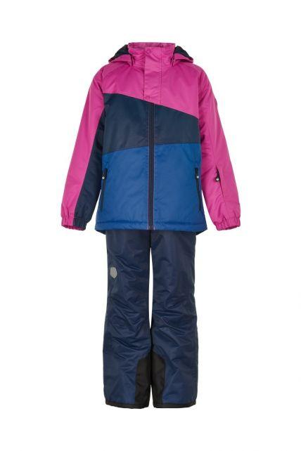 Color-Kids---Ski-suit-for-girls---Colorblock---Rose-Violet