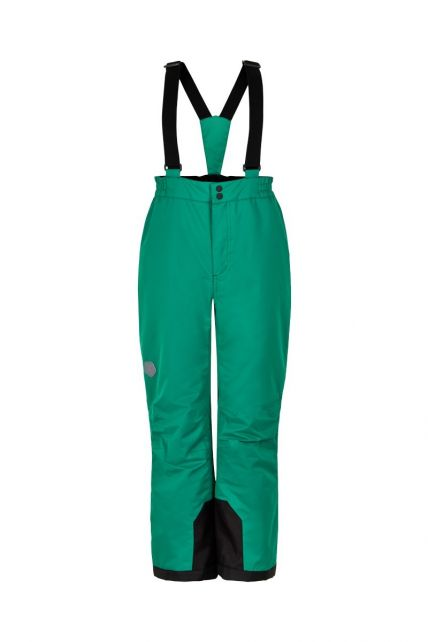 Color-Kids---Ski-pants-with-fixed-suspenders-for-children---Solid---Golf-Green