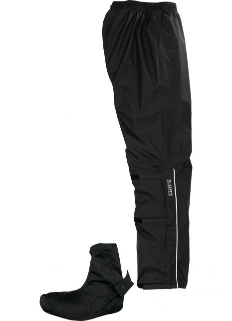 Pro-X-Elements---Cycling-rain-pants-with-gaitor-for-adults---Lyon---Black