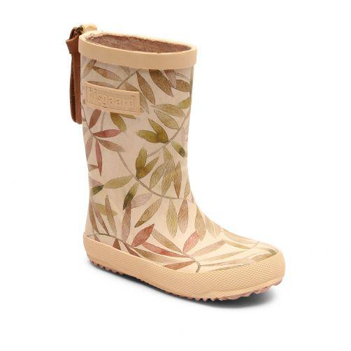 Bisgaard---Rain-boots-for-kids---Fashion---Beige-Leaves