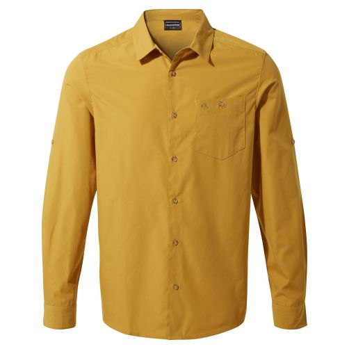 Craghoppers---UV-Shirt-for-men---Longsleeve---Kiwi-Ridge---Dark-Butterscoth