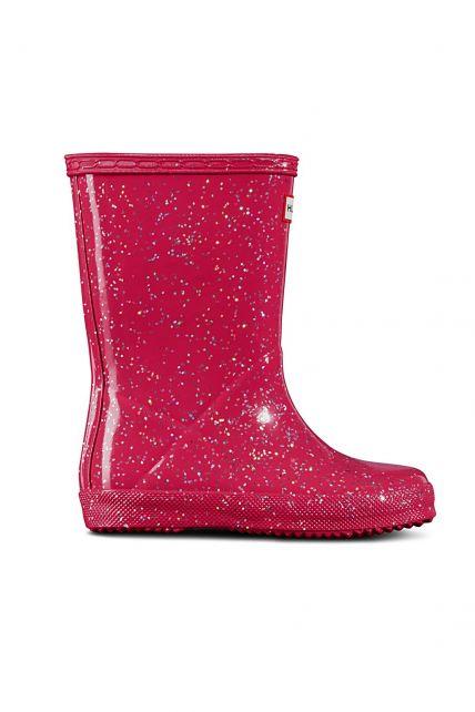 Hunter---Rainboots-for-girls---Original-Kids-First-Classic-Glitter---Thrift-Pink