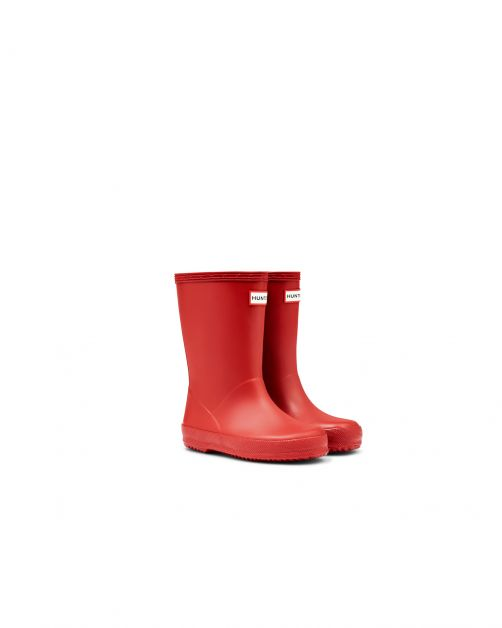 Hunter---Rainboots-for-children---Kids-First-Classic---Military-Red