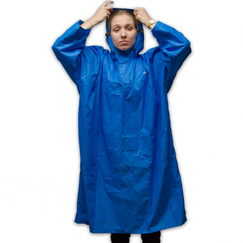 Lowland-Outdoor---Walking-poncho-for-adults---Blue