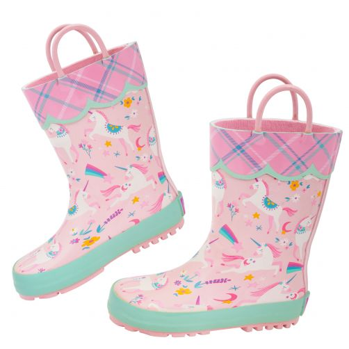 Stephen-Joseph---Rainboots-for-girls---Unicorn---Pink