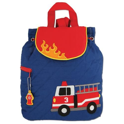 Stephen-Joseph---Quilted-backpack-for-kids---Firetruck