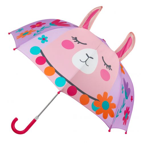 Stephen-Joseph---Pop-up-umbrella-for-girls---Llama---Lila
