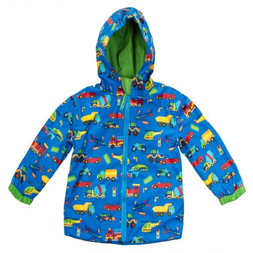 Stephen-Joseph---Raincoat-for-boys---Vehicles---Blue