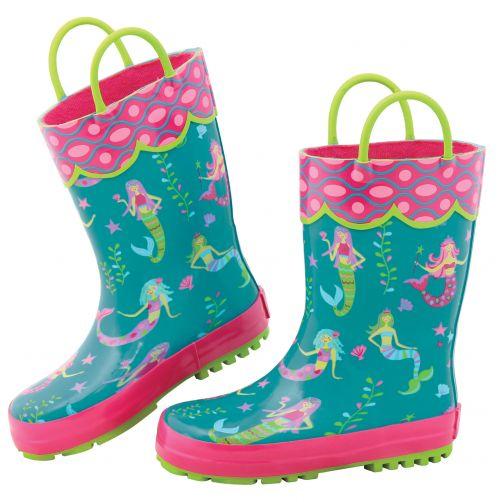 Stephen-Joseph---Rainboots-for-girls---Mermaid---Turquoise/Pink