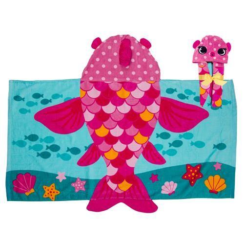 Stephen-Joseph---Hooded-towel-for-kids---Fish