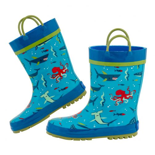 Stephen-Joseph---Rainboots-for-boys---Shark---Light-blue/Blue