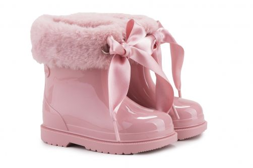 Igor---Rainboots-for-girls---Bimbi-Soft-high-gloss-with-bow---Pink