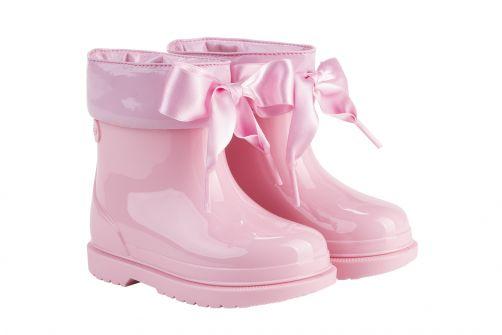 Igor---Rainboots-for-girls---Bimbi-Lazo-high-gloss-with-bow---Pink