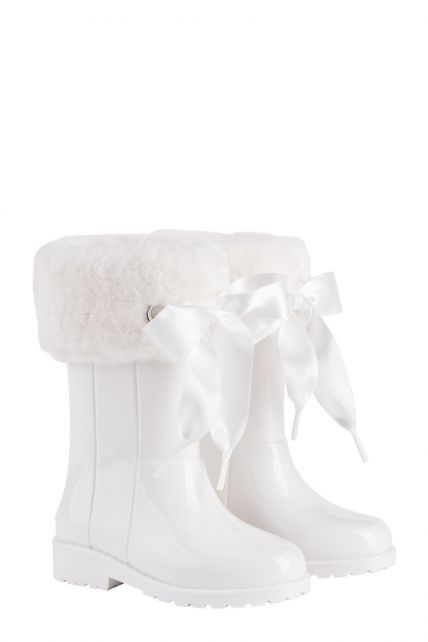 Igor---Rainboots-for-girls---Campera-Charol-Soft-high-gloss-with-bow---White